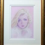 作品番号/201 ジークレー版画 <br/>「Memory of Pink」 <br/> サイズ:590 × 485mm エディション:60
